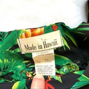 Made in Hawaii Dresses - Made in Hawaii Green Floral Dress   Size 10